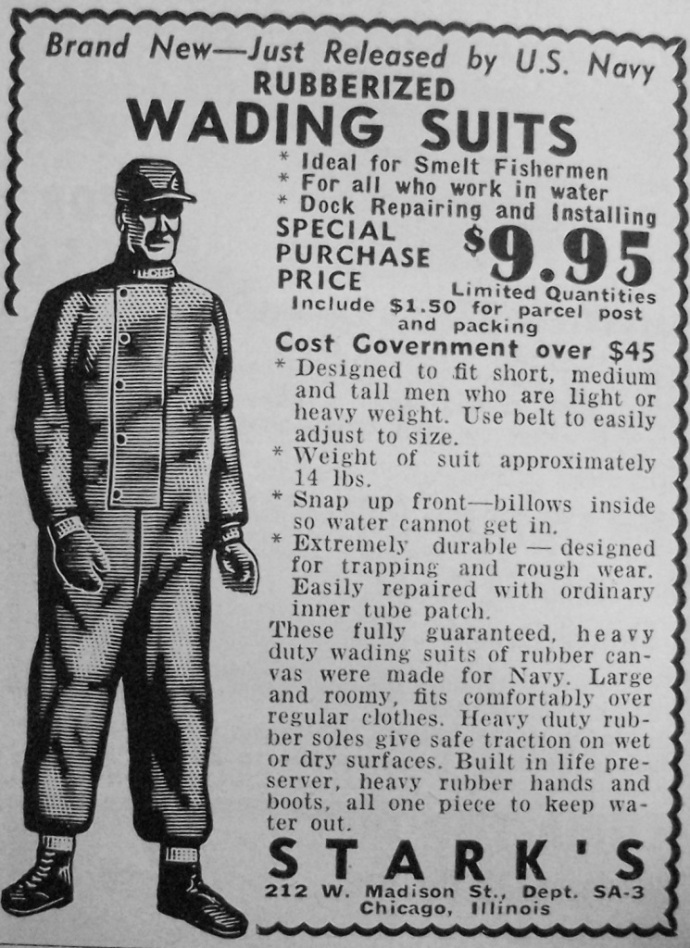rubber wading suits