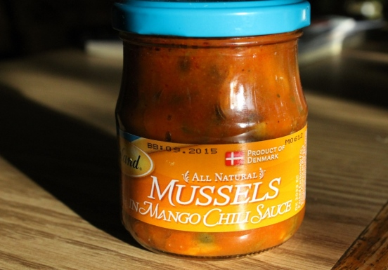 Mussels in Mango Chili Sauce