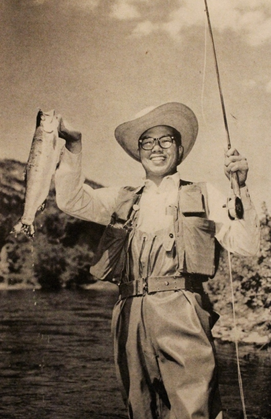 """Magician De Yip Louie pulled this 2-pound rainbow trout out of the Clark Fork and not out of his bag of tricks."""