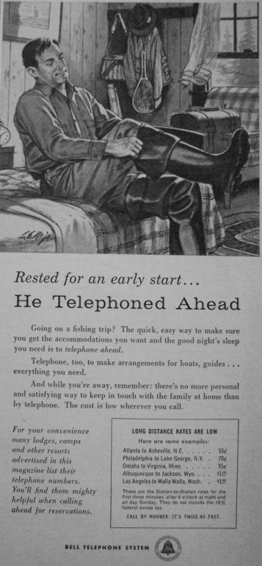 He Telephoned Ahead