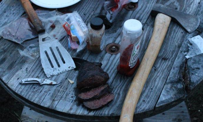 Venison Roast, a Pocket Knife, Habanero Cheese and an Axe