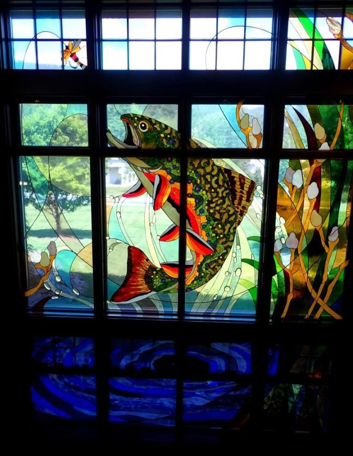 Stained Glass Brook Trout